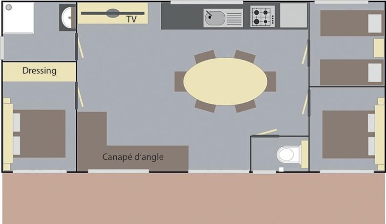 Mobilheim Elite 3 Schlafzimmer
