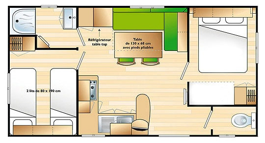 Plan mobil home Relaxe Family