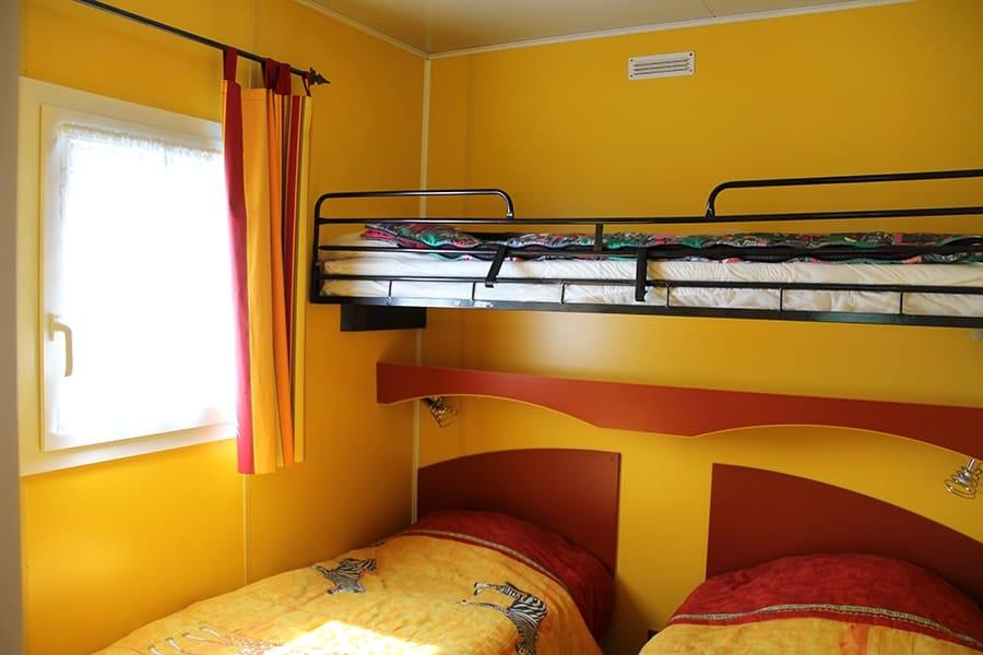 bedrooms chalet le cormoran