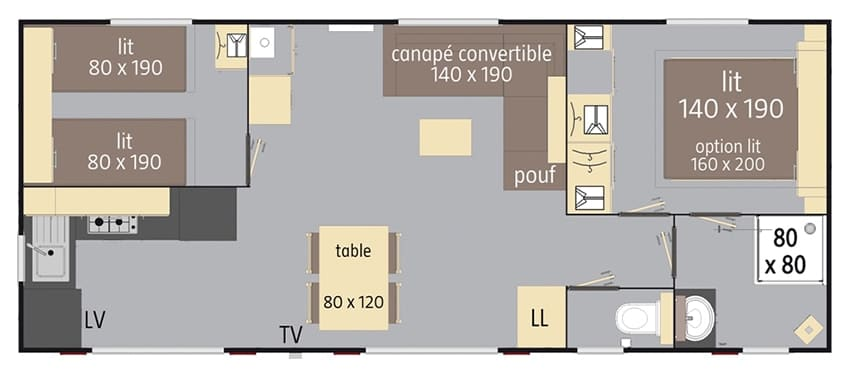plan mobil home Elite