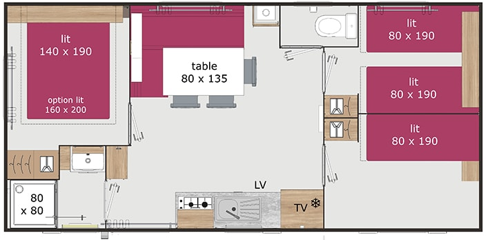 plan mobil home zen