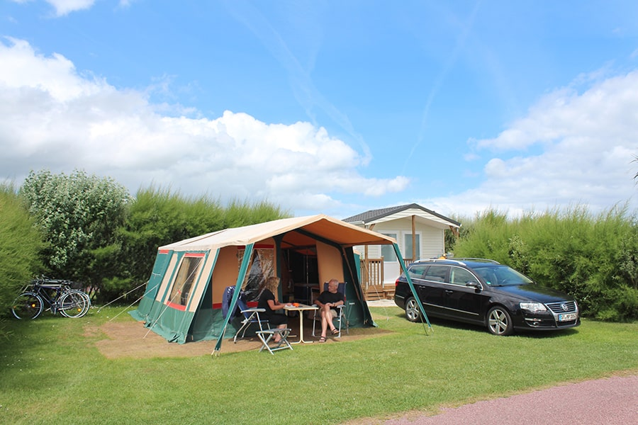campsite normandy pitch with private bathroom