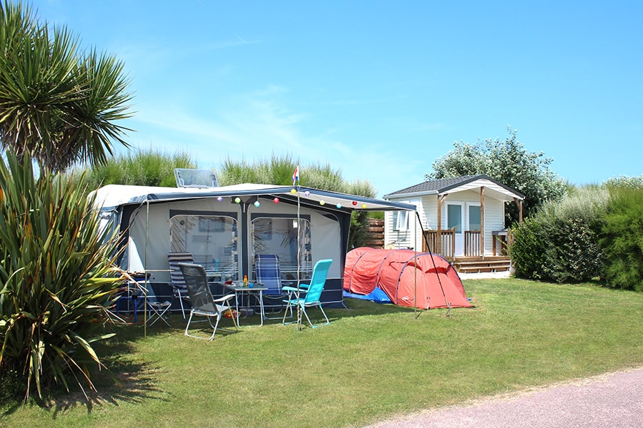 Premium camping pitch Normandy