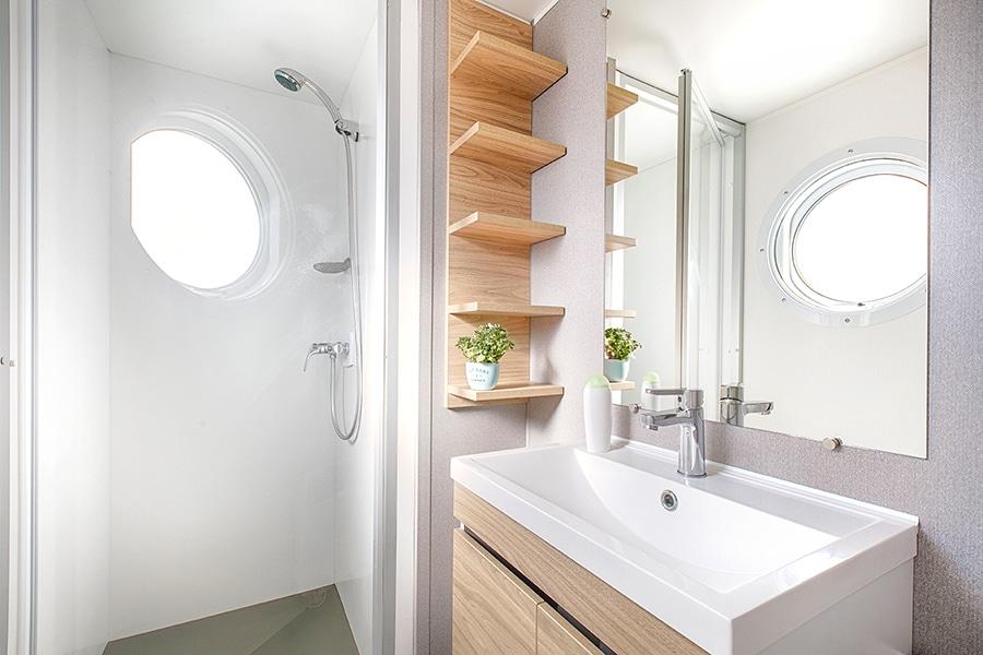 location mobil home normandie salle de bain