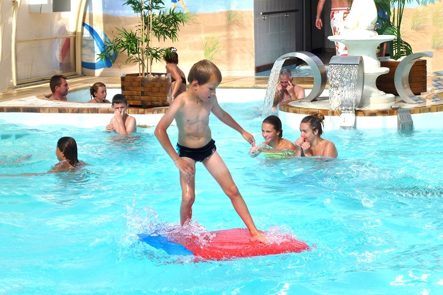 camping normandie jeux aquatiques