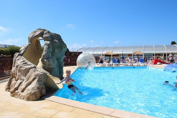 camping normandie piscine toboggan