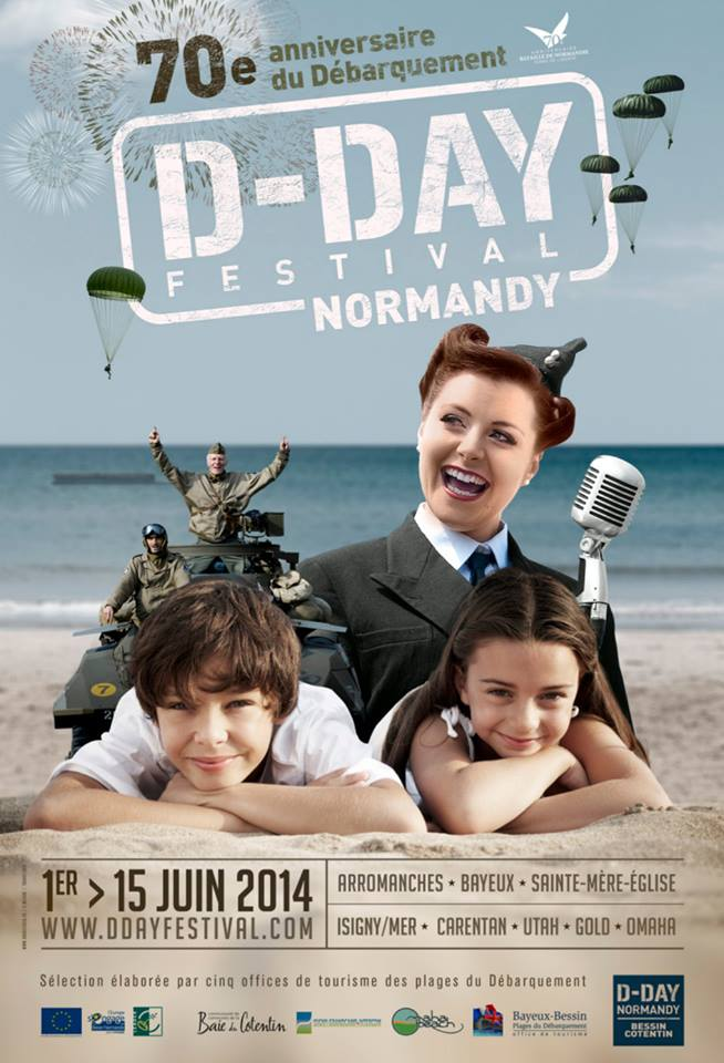 Official poster of 70th anniversary of D-Day landing