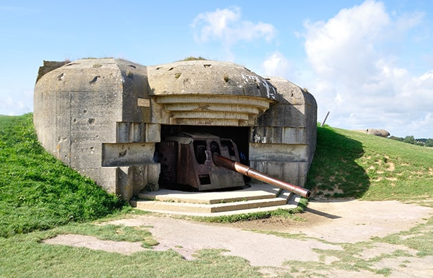 D-Day German battery