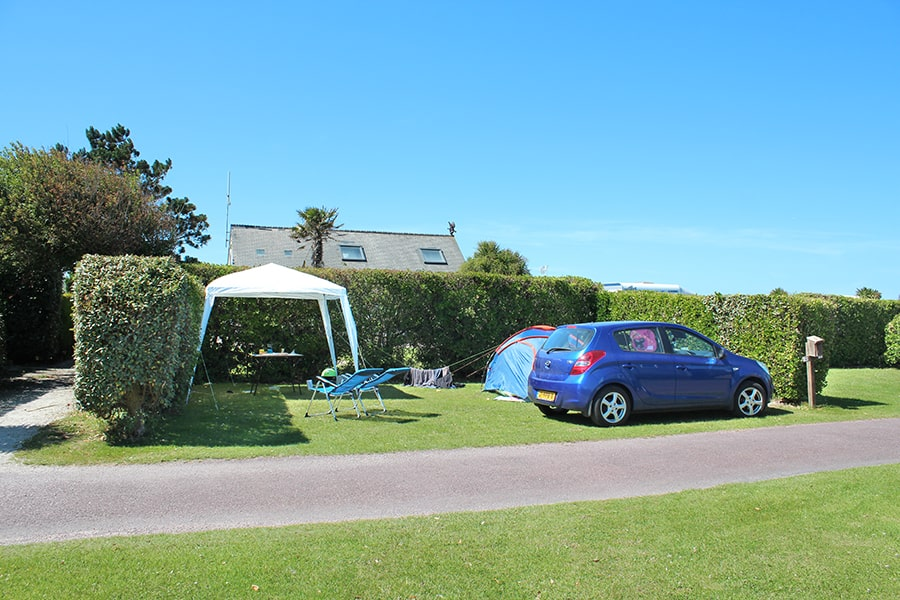 Campingplatz in der Normandie