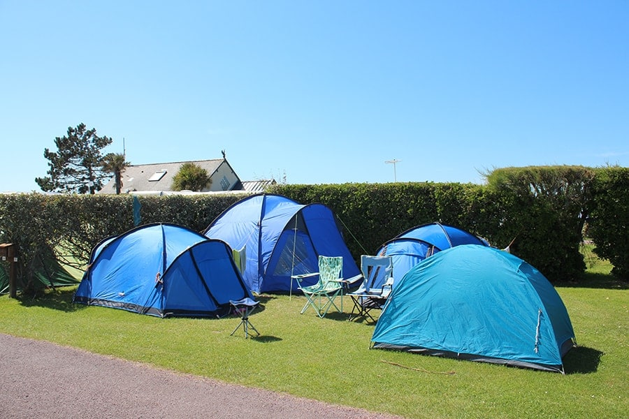 not costly campsite tent Normandy