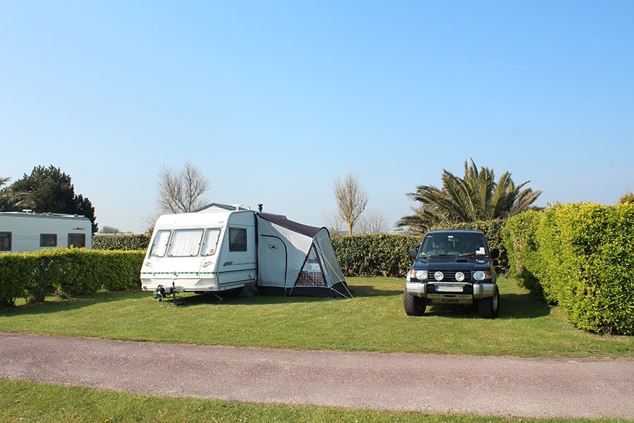 camping pitch in Lower Normandy