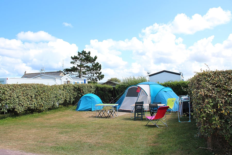 not costly tent camping pitch Normandy