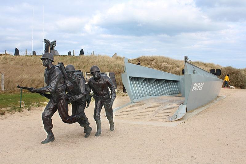 Utah beach hommage marine américaine