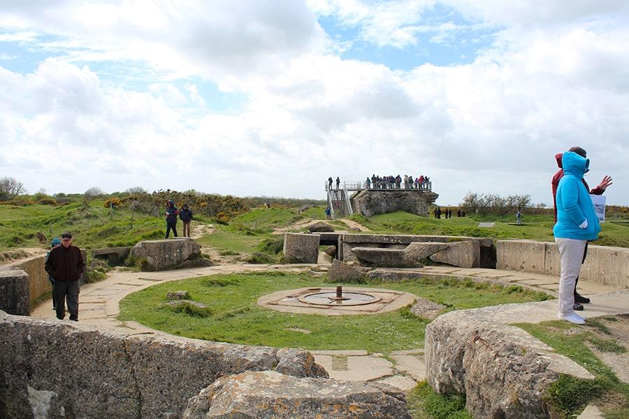 batterie artillerie Pointe du Hoc