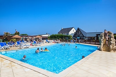 campsite normandy seaside outdoor pool
