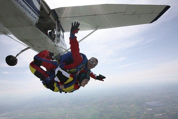 parachutespringen springen tandem