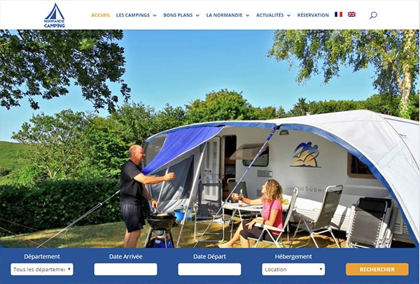 West Normandy Campsites website